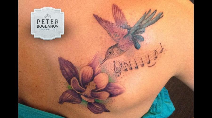 Humming Bird Color Shoulder