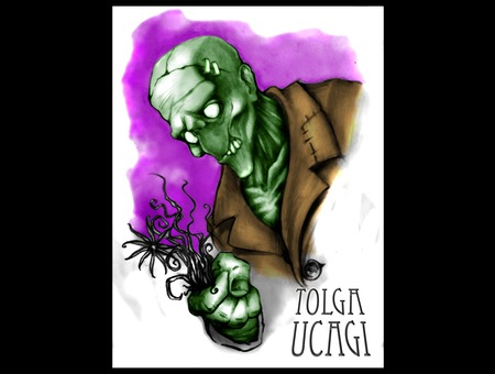 Zombie Death Funny Sketch Flash Color
