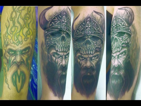 Coverup  Viking Black Grey Forearm