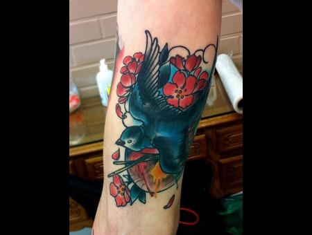 Swallow Art Cherry Blossom Color