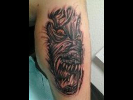 Wolf Monster Black White