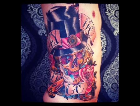 Skull Guns And Roses Rock Color