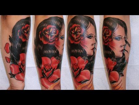 Gypsy  Woman Rose Color