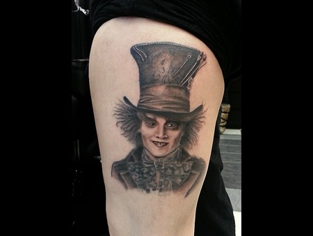Mad Hatter  Alice In Wonderland  Alice  Fantasy  Johnny Depp  Hatter Black Grey Thigh