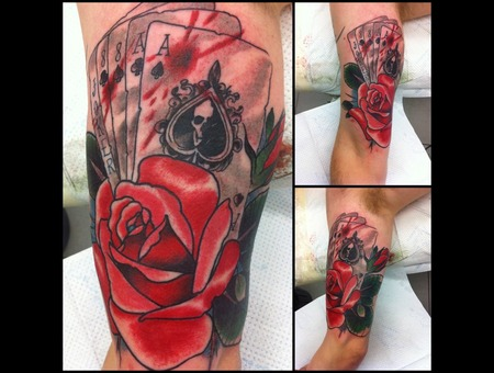 New Traditional Rose Deadmans Hand Color