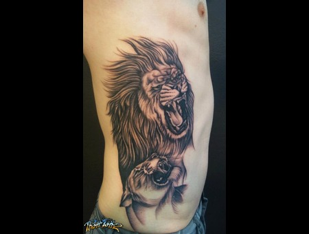 Lions Realism Realistic Black And Grey  .Big Ats  Cats Black White