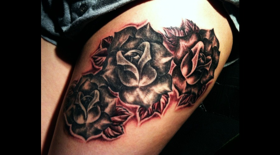 Realism  Black And Grey  Roses  Flowers Black White