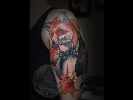 Fox Tattoo Color