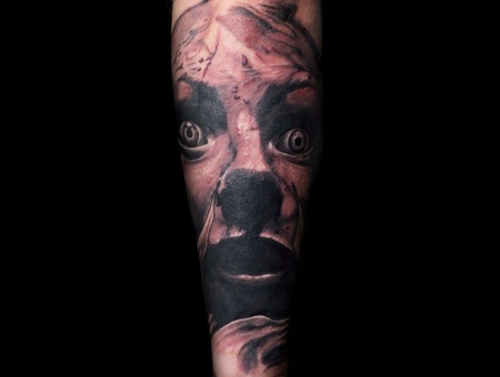 Horror  Bloody  Blood  Evil  Woman   Black Grey Forearm