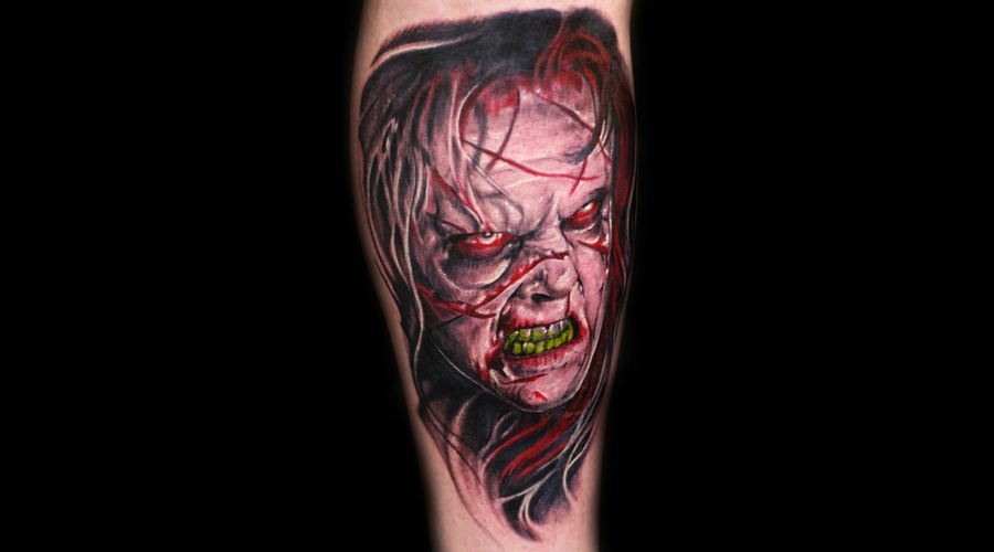 Exorcist  Horror  Evil  Demon  Devil   Color Lower Leg