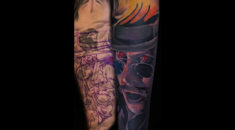 Cover Up  Dracula  Movie  Horror   Color Forearm