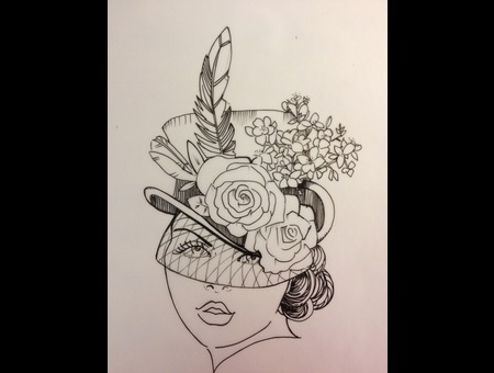 Drawing Ready To Tattoo Black Grey