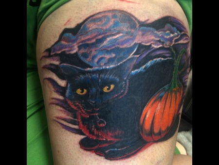 Color  Cat  Halloween Color Thigh