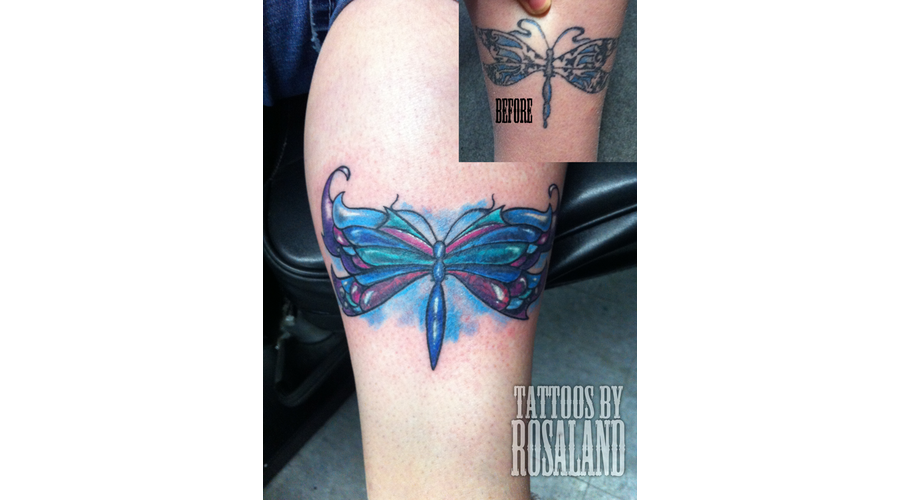 Cover Up  Dragonfly  Butterfly Color Lower Leg