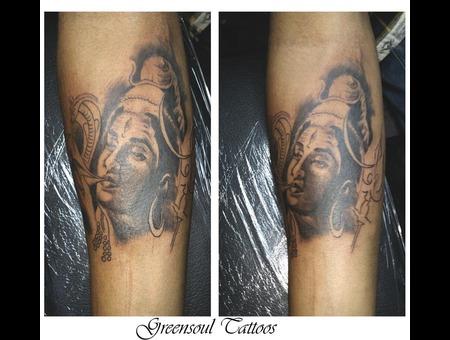Shiva  Religious Tattoo  Green Soul Tattoos  Hyderabad  India Black Grey Forearm