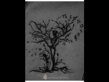 Tree Of Life Tattoo  Green Soul Tattoos  Hyderabad  India Black Grey Chest
