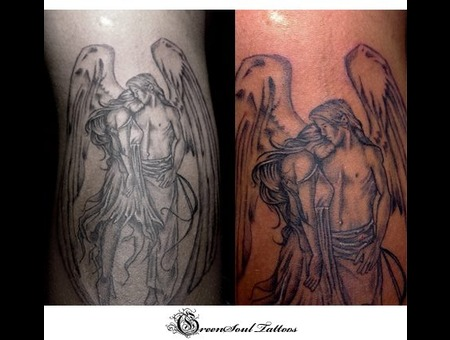 Angels  Green Soul Tattoos  Hyderabad  India Black Grey Forearm