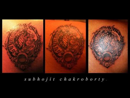 Custom Tattoo  Green Soul Tattoos  Hyderabad  India Black Grey Back