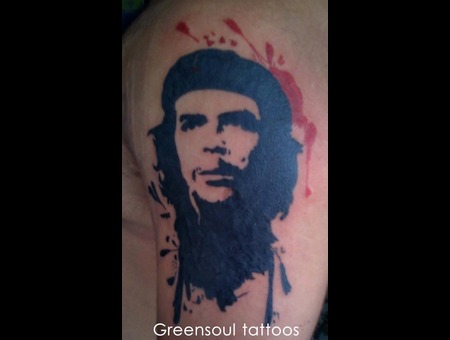 Che  Political Tattoo  Green Soul Tattoos  Hyderabad  India Color Back