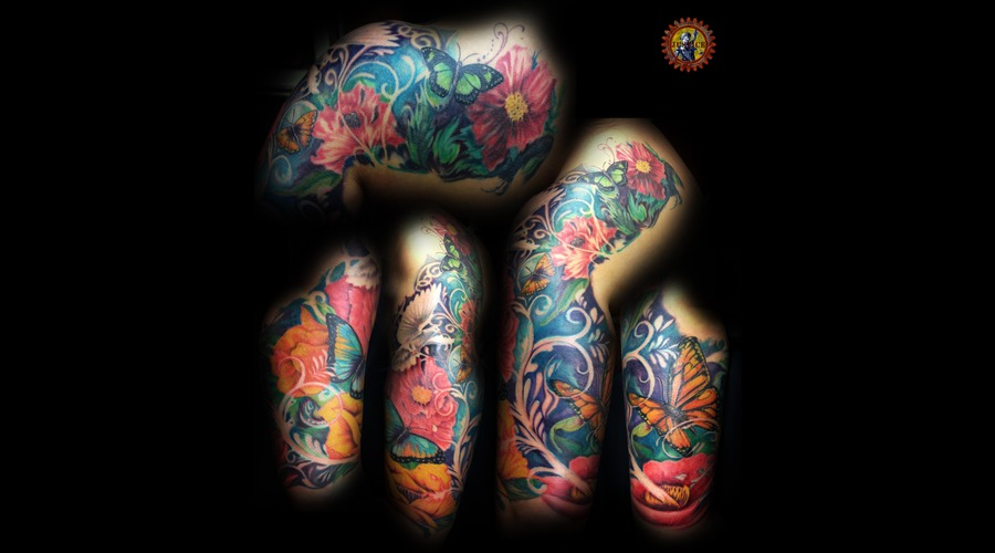 Floral  Flower  Butterfly  Butterflies  Flowers  Sleeve  Dove Color