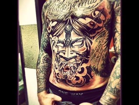 Hannya  Japanese Black White