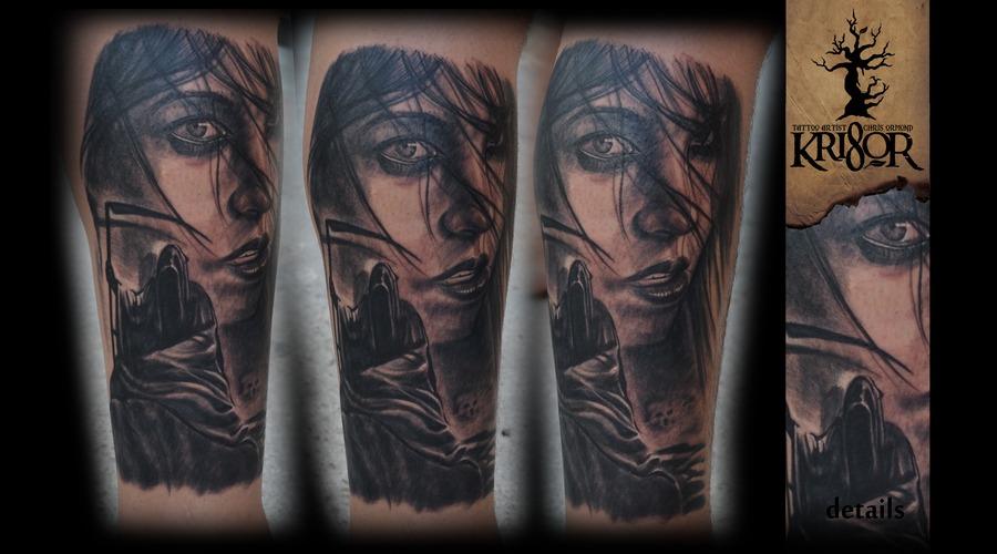 Reaper Black White