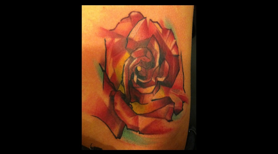 Flower Abstract Watercolor Rose Color Hip