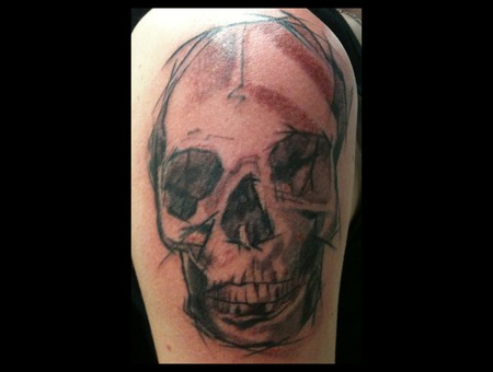 Skull Horror Abstract Shoulder
