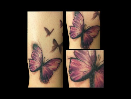 Butterfly Cheese Trendy Cute Color Lower Leg