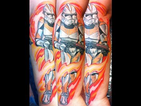 Star Wars  Stormtrooper  Scar Cover Up  Boss Tom  Fallen Angel Color