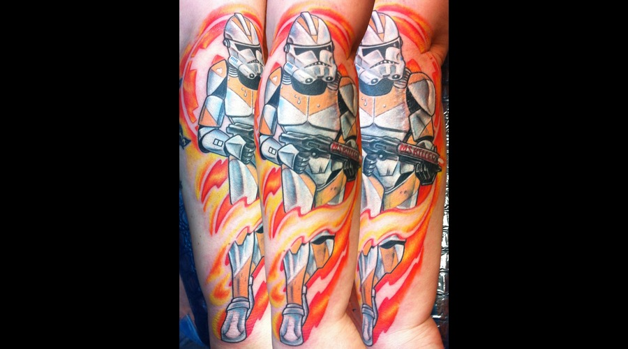 Star Wars  Stormtrooper  Scar Cover Up  Boss Tom  Fallen Angel Color