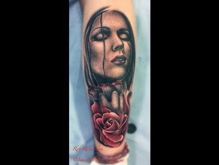 Portrait Rose Black White