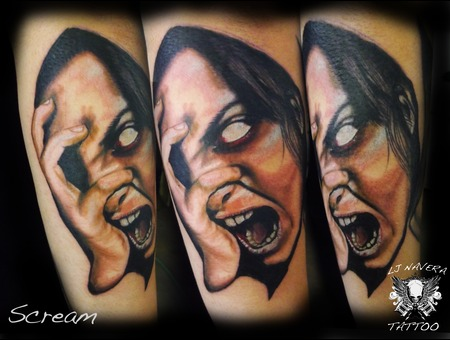 Scream Shout  And Let It Out Dark Art  Portrait Color Forearm