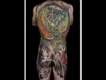 Dragon Koi Color Back