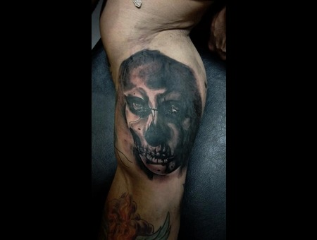 Muertos;Portrait;Dark Art; Skull Black White
