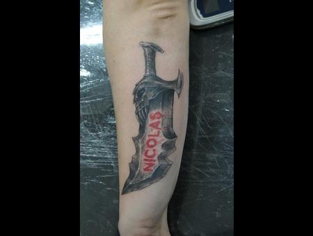 Sword God Of War Black White