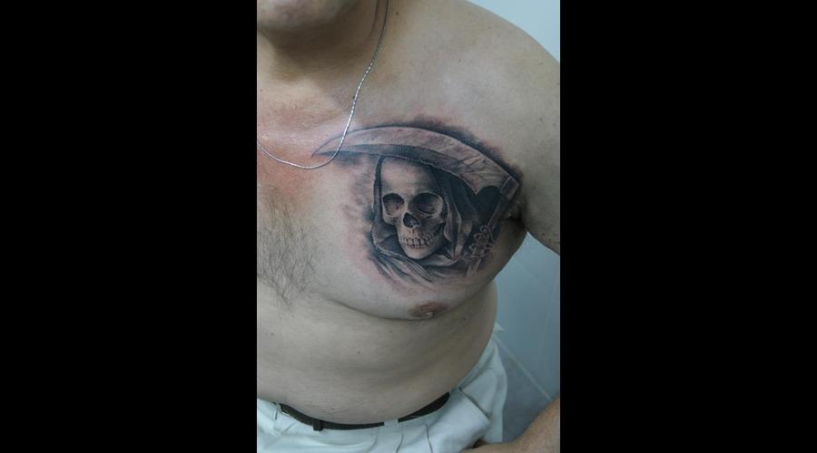 Death San La Muerte Black White