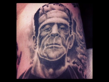 Horror  Frankenstein  Black White