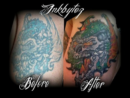 Redo  Coverup  Color  Skull  Dragon Color