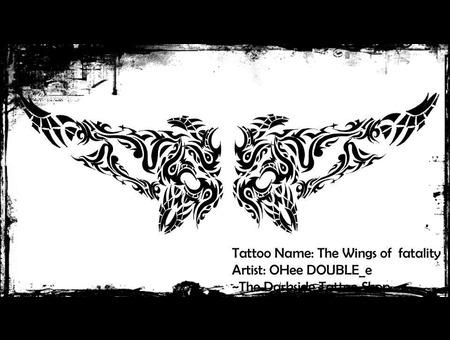 Wings Angel Black White