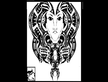 Nefertiti Black White