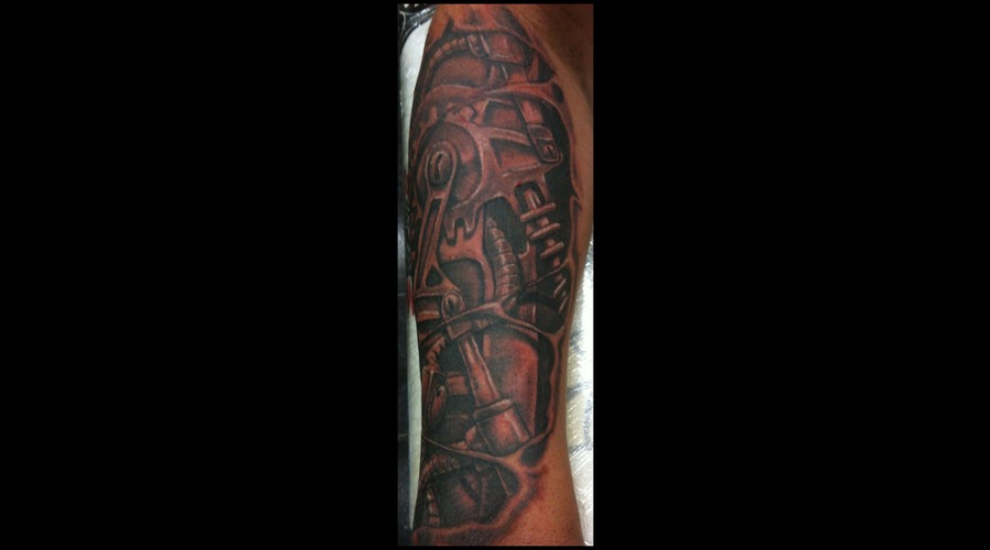 Arm  Biomechanical Black Grey Lower Leg