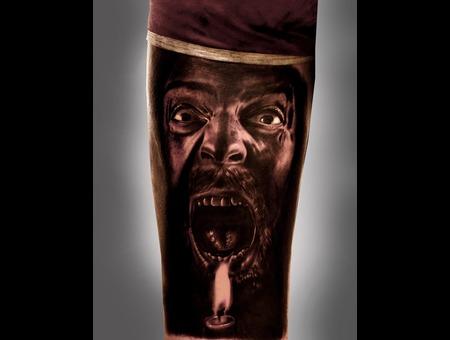 #Silvano Fiato #Candle #Oldman #Scared  Black White
