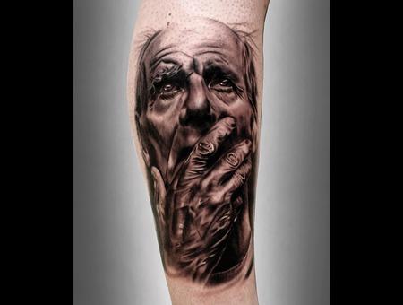 #Silvano Fiato #Black&Gray #Realistic #Oldman