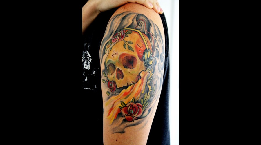 Skull  Music  Half Sleeve   Color