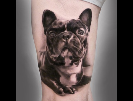#Silvano Fiato #French Bulldog  Black White