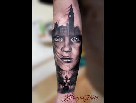 #Silvano Fiato #London #Angel Black White