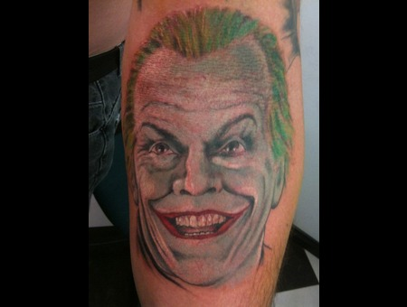 Portrait  Joker  Batman  Realistic Color