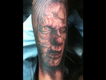 Portrait  Realism  Realistic  Face  Zombie  Exorcist  Horror   Black White