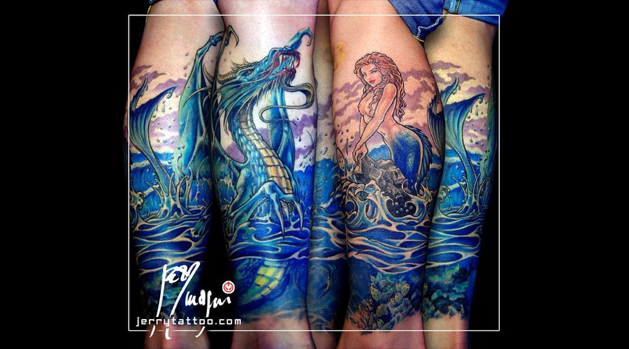 Mermaid  Dragon  Color Lower Leg